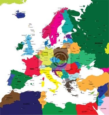 Politická mapa Evropy
