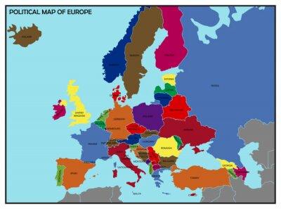 Obraz Politická mapa Evropy