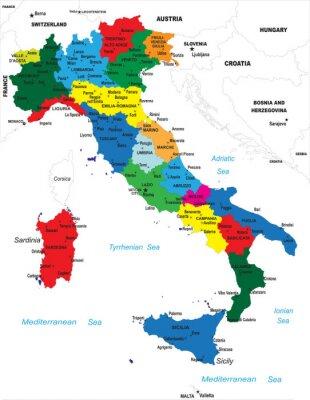 Politická mapa Itálie