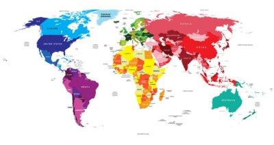 Obraz Politická mapa světa