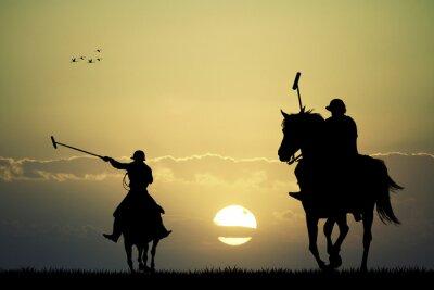 Obraz polo hráči na koních