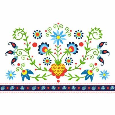 Obraz polski wzór Ludowy Z Kaszub - inspiracja