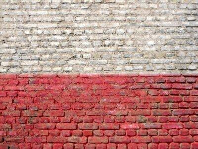 Obraz Polsko vlajka namaloval na zeď
