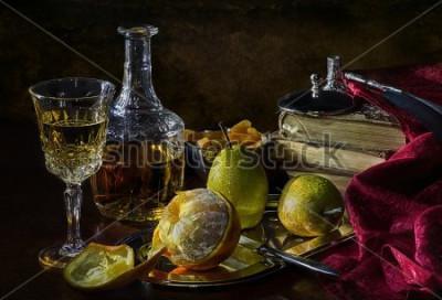 Obraz Pomeranče, hrušky a sušené meruňky