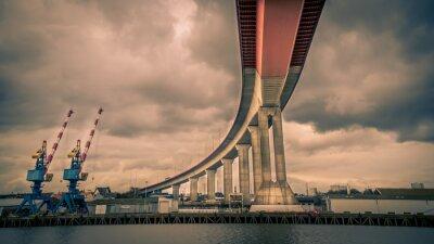 Obraz Pont autoroute au dessus de la Loire - Nantes
