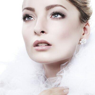 Obraz Portrét dívka je v módní styl. Svatební dekorace. Izolovaný