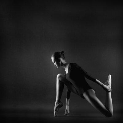 Obraz Portrét mladé krásné ženy gymnastka