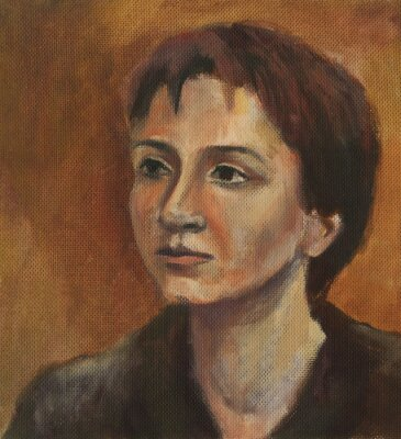 Obraz Portrét mladé ženy. Olejomalba