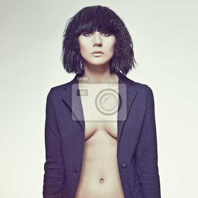 Portrét smyslné ženy modelu