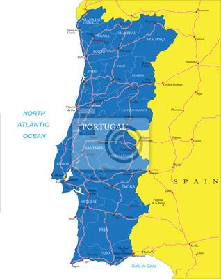 Portugalsko mapa