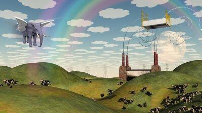 Obraz Postel v krajině fantazie