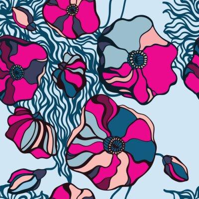 Obraz Pozadí Abstraktní květiny. Bezešvé vzor