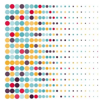 Obraz Pozadí s barevnými kruhy tečkovanou ve vektoru