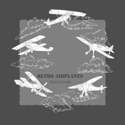 Obraz Pozadí s letadly