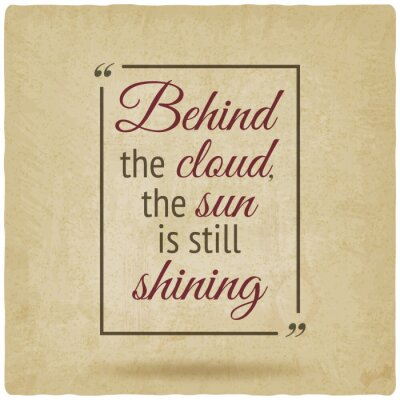 Obraz Pozitivní inspirace citace plakát starý pozadí