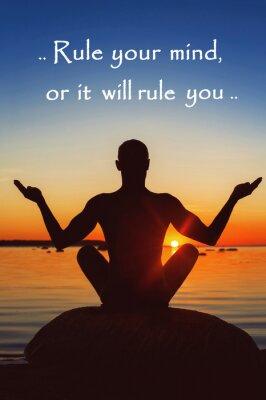 Obraz Pravidlo svou mysl, nebo tě to bude vládnout. Motivace pro sebe