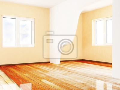 prázdná místnost se dvěma okny