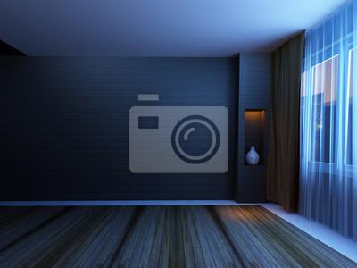 prázdné místnosti v noci