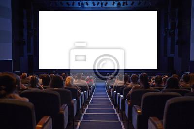 Prázdný kino displej s publikem.