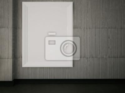 prázdný obrázek na zdi, 3d