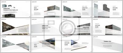 Obraz Presentations design, portfolio vector templates with architecture design. Abstract modern architectural background. Multipurpose template for presentation slide, flyer leaflet, brochure cover, report
