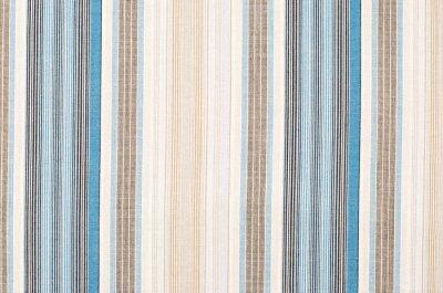 Obraz Pruhované modré a hnědé textilní vzor jako pozadí. Zblízka na různých svislých pruhů materiál textury tkaniny.