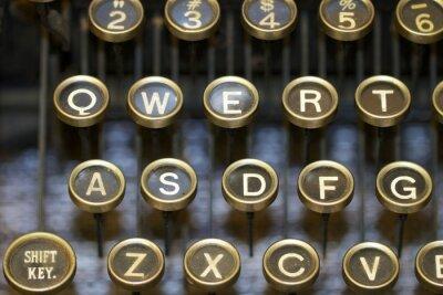 Obraz psací stroj / klíče