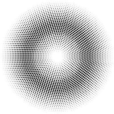 Obraz půltón kruh.