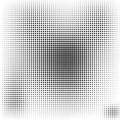 Obraz Půltón tečky pozadí černá a bílá stylové