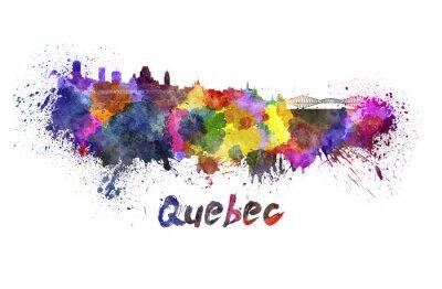 Obraz Quebec panorama v akvarelu
