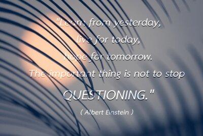 Obraz Quote Albert Einstein pozadí.