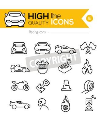 Obraz Racing Line Icons