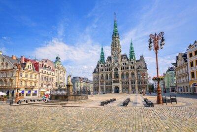 Radnice a centrálního náměstí v Liberci, Česká republika