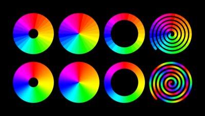 Obraz Rainbow color ring set. Vector RGB color wheel.