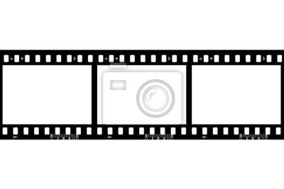 Rámy z fotografického filmu, samostatný na bílém pozadí