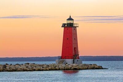 Obraz Ráno Manistique Lighthouse