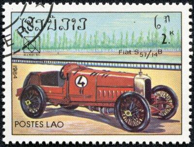 Obraz razítko vytištěny v Laosu představovat vinobraní Fiat S57 sportovní auto