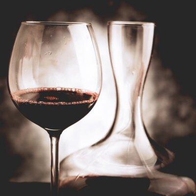 Obraz red ochutnávka vína - vinobraní stylu