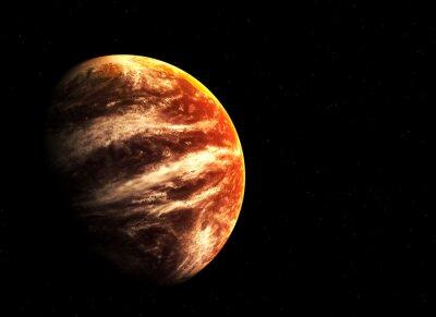 Obraz Red planet a hvězdy