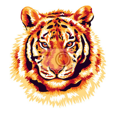 Obraz Red tiger
