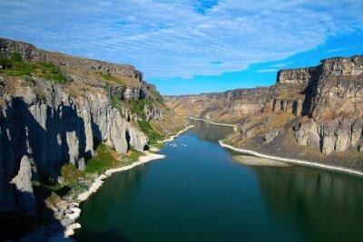 Obraz Řeka Snake a její kaňon, jak je patrné z Shoshone Falls blízko Twin Falls, Idaho