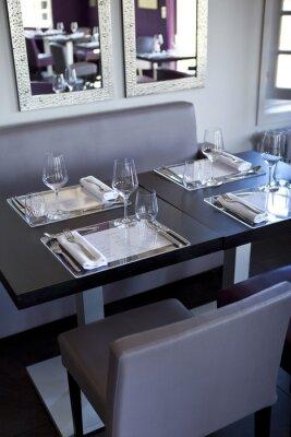 Obraz Restaurace, Salle, bistro, stoly, couverts, Gastronomie