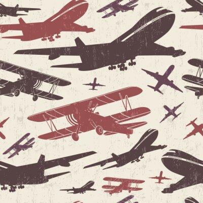 Obraz Retro bezproblémová šablona letounu