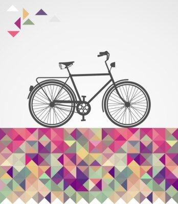 Obraz Retro Bokovky cyklistické geometrické prvky.