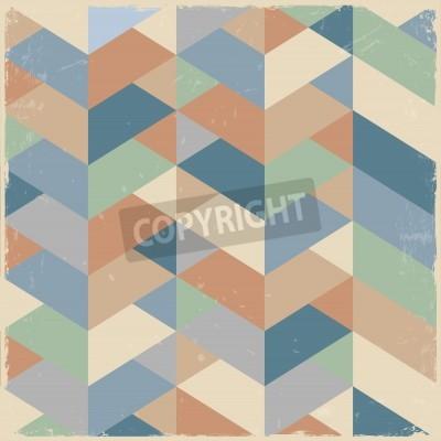 Obraz Retro geometric background in pastel colors