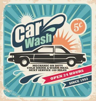 Obraz Retro mycí plakát