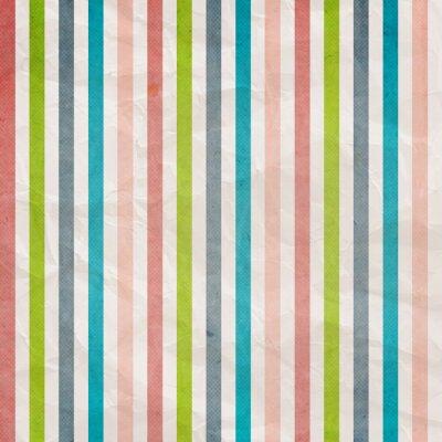 Obraz Retro proužek vzorek - pozadí s barevnými růžové, modré, šedé,