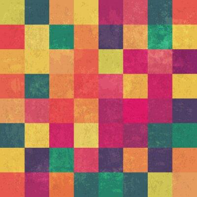 Obraz Retro squary colorful vintage vector background