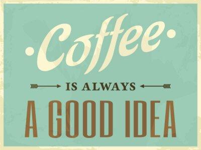 Obraz Retro styl na kávu Plakáty