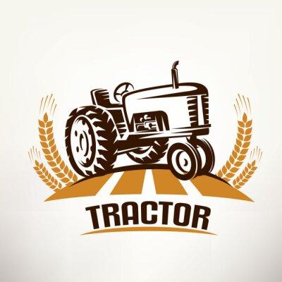 Obraz Retro traktor vektorový symbol